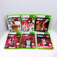 NBA 2K10 2K11 2K12 2K13 2K14 2K16 Microsoft Xbox 360 Video Games Lot Of 6