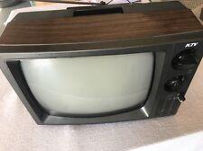 """KTV TV Model KT 1230 DC Black & White - Vintage Measures 14"""" X 9 1/2"""""""