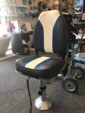 "Large high back boat seat (folding) adjustable pedestal, seat height 18"" to 24"")"