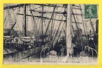cpa FRANCE 44 - NANTES Bateaux Navires Ship TROIS MÂTS au PORT VOILIERS SAILINGS