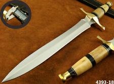 "SUPERB HANDMADE 15"" STAINLESS STEEL DAGGER HUNTING KNIFE W/SHEATH (4393-18"