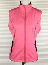 NIKE Womens Vest Sz M Pink High Neck Breathable Mesh Zip Front Light Weight