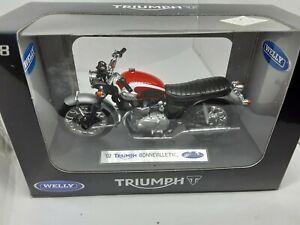 moto Triumph bonneville T 100 1/18 welly