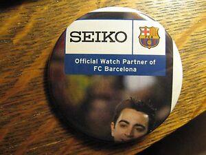 Seiko Watch FC Barcelona Football Soccer Advertisement Pocket Lipstick Mirror