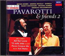 PAVAROTTI & FRIENDS 2 Bryan Adams Bocelli Gustafson Andreas Vollenweider CD 1994