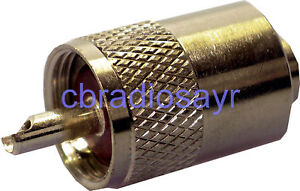 6mm PL259 Plug suitable for CB Antenna Cable
