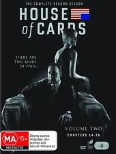 House of Cards: The Complete Second 2nd 2 Season (DVD, 2014, 4-Disc Set) NEW