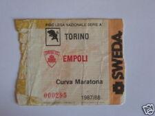 TORINO - EMPOLI BIGLIETTO TICKET 1987 / 88