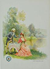 Affichette ancienne entoilée - COGNAC RENAULT ET Cie - vers 1900