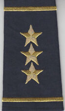 2 Police Chief/Sheriff  Epaulet THREE (3) STARS Shoulder Boards Gold/Midnight