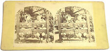 STEREOFOTO STEREOVIEW PHOTO 1875 ca. BABES IN THE WOOD