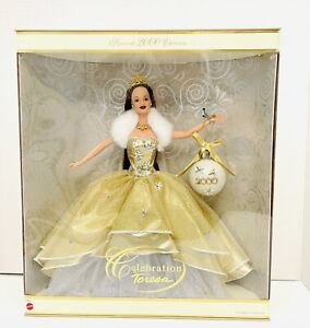 2000 Celebration Teresa Gold Gown Special Edition Collector's Doll Barbie NIB