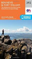 OS Explorer Map (392) Ben Nevis and Fort William, The Mamores and The Grey Corri