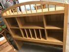 OAK WOOD FINISH HUTCH BY COASTER - BEDROOM / DORM ROOM / OR OFFICE AREA