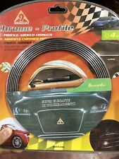 PROFILO CROMATO FASCIA ADESIVA AUTO CAMPER 4 METRI 10mm CROMATURA TUNING 3M