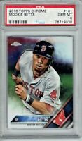 Mookie Betts 2016 Topps Chrome Baseball Card # 161 Boston Red Sox PSA 10
