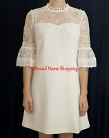 Ted Baker Raechal Floral Lace Dress in White - Size 2 US 6 #TED20