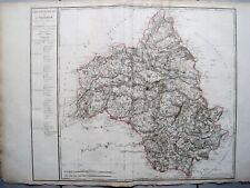 RIESIGE LANDKARTE FRANKREICH DEP. DE L'AVEIRON 1790 KUPFERSTICH D'HOUDAN