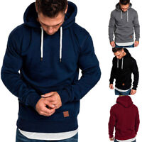 New Men Long Sleeve Slim fit Pullover Hoodies Sweatshirt Tops Outwear Size M-5XL
