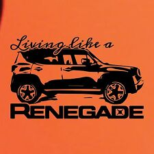 Living Like a Jeep Renegade Logo Graphic Vinyl Decal Sticker Vehicle Rear SUV 1x