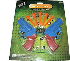 Kinder / Doppelpackung aus Kunststoff Spielzeug Dart Waffe/Pistolen mit 5 weich