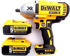 """New Dewalt 20 Volt DCF899 Brushless 700 Lb 1/2"""" Impact Wrench, 2) DCB205 Battery"""