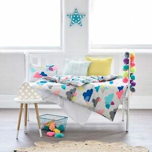 ADAIRS KIDS After the Rain COT (Jnr Bed) Quilt Cover Set BNIP clouds Reversible!