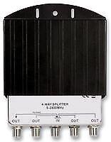 SPLITTER 4WAY OUTDOOR Aerial & Satellite Equipment Signal Splitter - CV86507