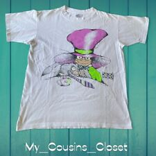 """Vintage 90's Andazia x Alice x THE MAD HATTER & RABBIT """"Mouse Tea Time"""" Art  Tee"""