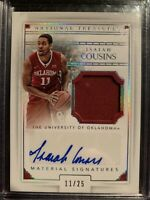 2016-17 National Treasures Isiah Cousins RC Patch Auto  RPA Oklahoma Kings 11/25