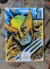 Upper Deck Marvel Flair Wolverine Sketch Card Art Marvel Comics X-Men 1/1