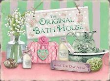 Original Bath House Soap Soak Relax Hotel Bathroom B&B Large Metal Steel Sign