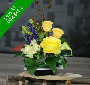 Artificial Flowers- Cute Yellow Arrangement - for Home Decor or Gifting