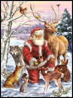 Santa's Menagerie - Chart Counted Cross Stitch Pattern Needlework Xstitch craft