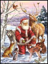 Santa's Menagerie - Chart Counted Cross Stitch Pattern Needlework Xstitch craft