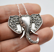 Antique Handmade Elephant Spoon Necklace