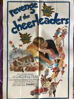 "REVENGE OF THE CHEERLEADERS Authentic 1976 27"" x 41"" 1 ONE SHEET MOVIE POSTER"