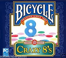 BICYCLE CRAZY 8s BRAND NEW SOFTWARE.FUN FOR ALL AGES! SHIPS FAST and SHIPS FREE!