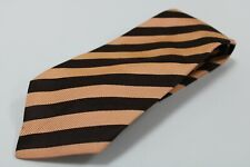 cravatta tie 100% seta silk soie vintage KITON NAPOLI marrone albicocca (238)