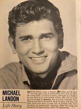 Michael Landon, Bonanza, Kim Novak, Double Full Page Vintage Pinup