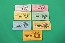 Star Wars Saga Edition Monopoly Replacement Money Pieces & Instruction Booklet