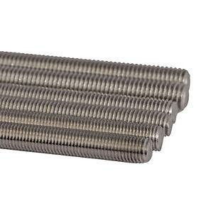 Fine Threaded M6/8/10/12/14/16/18/20*250mm Full Thread Rod Bar A2 304 Stainless