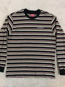 Supreme Multi Stripe Long Sleeve Top Men's Size Small