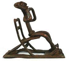 Art Africain Ethnographique - Figurine Ashanti en Bronze - Ghana - 8,8 Cms +++++