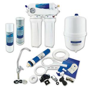4 Stage Reverse Osmosis Water Filter System Premium Under Sink RO Unit - 50 GPD
