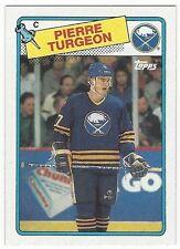 1988-89 TOPPS HOCKEY #194 PIERRE TURGEON ROOKIE - NEAR MINT
