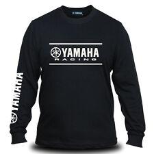 Genuine Yamaha Racing Logo Motorcycle Extreme Bike Black Long Sleeve Tee T-Shirt