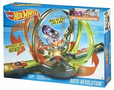 Hot Wheels Roto Revolution Track Set W/ 2 Vehicle Motorized loops Rotate New