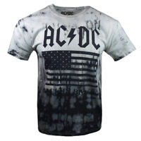 AC DC Mens Tee T Shirt M XL BACK IN BLACK 1980 TOUR Vintage Rock Band Music NEW