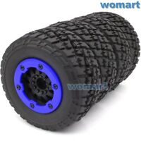 4pcs RC 1/10 Short Course SC Tires & Beadlock Wheels Hex 12mm For Traxxas Slash
